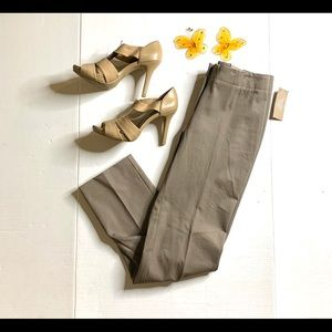 Chico's Taupe Fabulously Slimming Trouser Pants